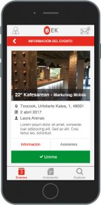 Empresa dentro de la aplicación móvil BEK, ganadora del concurso Welive