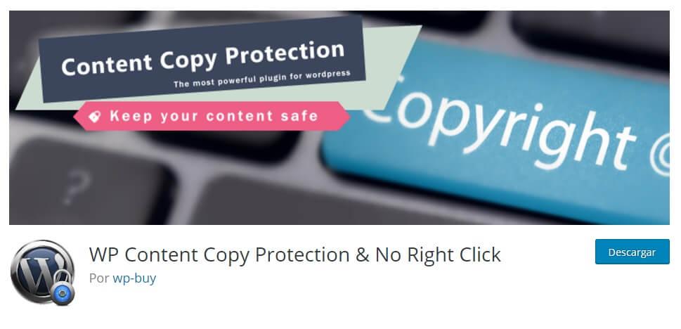 plugin de WordPress para proteger el contenido web
