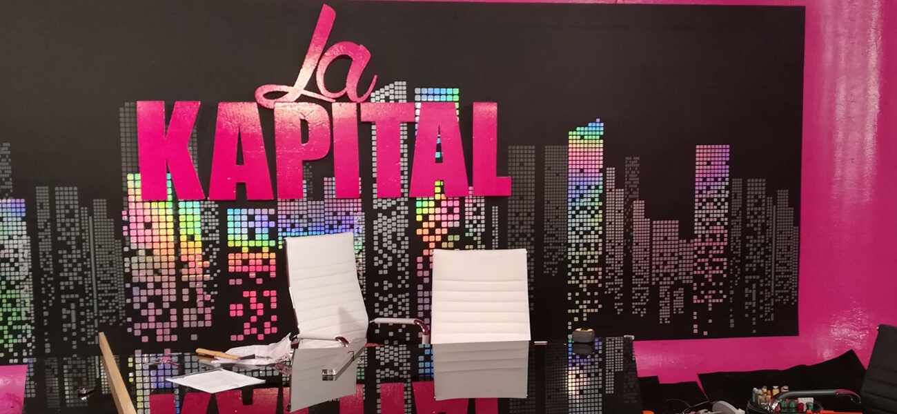 Diseño del nuevo plató de La Kapital